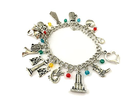 Himym Mother Costume (J&C Family Owned Brand How I Met Your Mother Theme Multi Charms Lobster Clasp Bracelet in Gift Box)