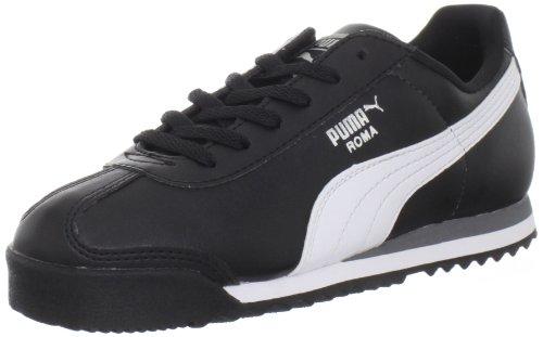 PUMA Roma Basic JR Sneaker  , Black/White/Puma Silver, 6.5 M