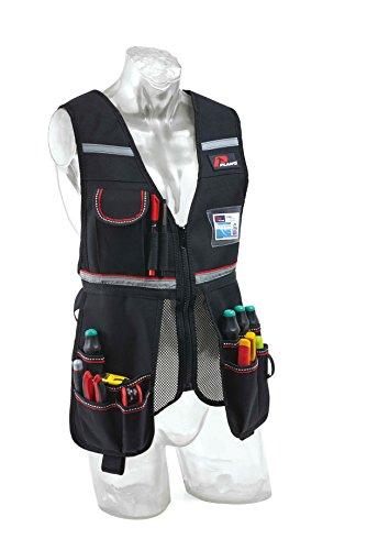 Plano 513010 Multi-Pocket Tool Holder Waistcoat, Black