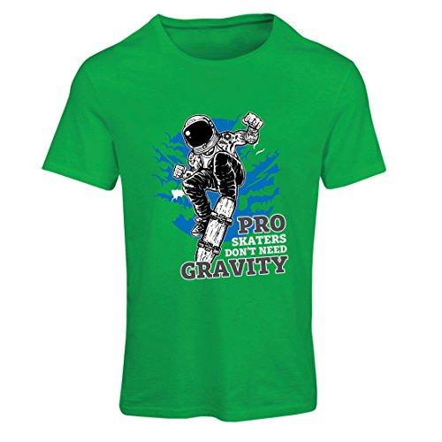 T Shirts for Women Pro Skaters Don't Need Gravity - Skateboard Sayings, Skate Life Quotes (XX-Large Green Multi - Exerciser Skate