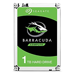 Seagate BarraCuda Internal Hard Drive 1TB SATA 6Gb/s 64MB Cache 3.5-Inch (ST1000DM010)