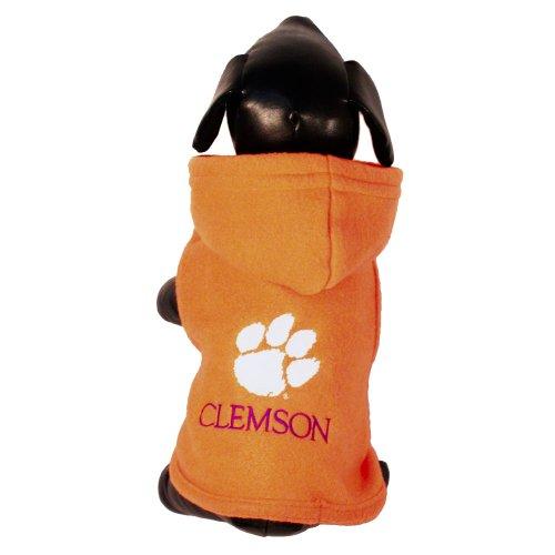 (NCAA Clemson Tigers Polar Fleece Hooded Dog Jacket, X-Large)