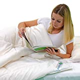 HealthyLine Natural Australian Organic Wool All-Season White Comforter/Blanket 300 GSM Down Proof Cotton 300TC Soft Duvet Insert, Breathable Quilt with Corner Tab, Odor Resistant, Antimicrobial (King)