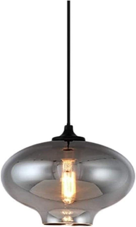 SZKP Shade pendiente moderna de la vendimia en Aparatos de iluminación de techo de montaje Revestimiento del Gris Espejo lámparas de cristal de globos de luz retro iluminación Lámparas lámpara colgant
