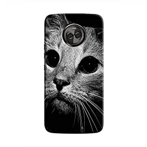 Cover It Up - Cute Cat BW Moto X4 Hard case
