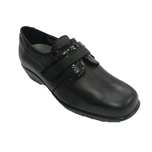 Chaussure en cuir verni femme Trebede en noir