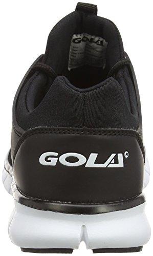 Gola Akita, Zapatillas de Running para Hombre Negro (Black/white)