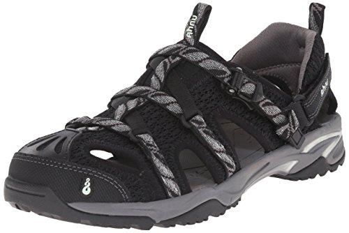 Ahnu Women's Tilden V Sport Sandal, Leaf Black, 8 M US