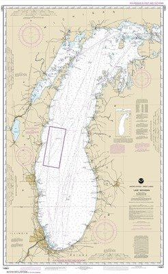 Synthetic Media NOAA Chart 14901: Lake Michigan (Mercator Projection) by NOAA Nautical Charts
