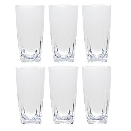 QG 26 oz Clear Acrylic Plastic Iced Tea Cup w/ (Heavy Base Iced Tea)