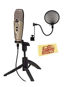 cad u37 usb condenser microphone bundle with pop filter and austin bazaar polishing. Black Bedroom Furniture Sets. Home Design Ideas
