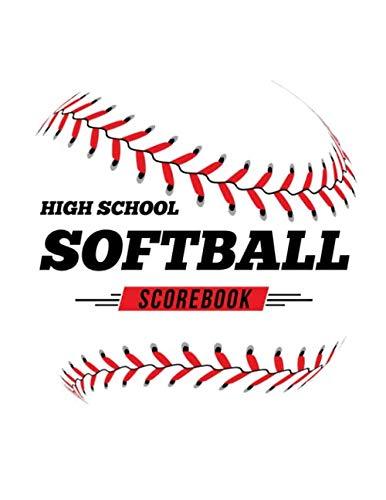 High School Softball Scorebook: 100 Scoring Sheets For Baseball and Softball Games por Jose Waterhouse