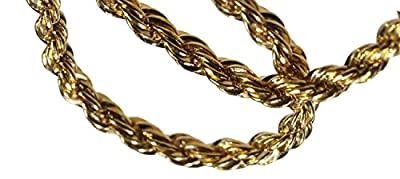 14k Gold Fill Rope Chain Bracelet 2mm 7 Inch by ugems