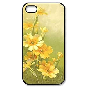 Vintage Flower Watercolor Personalized Cover Case for Iphone 4,4S,customized phone case ygtg586853 by icecream design