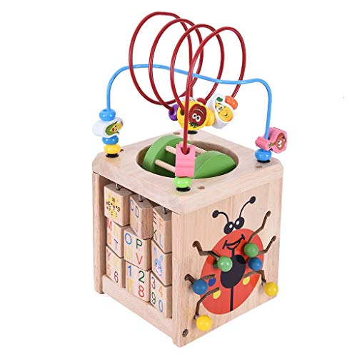 YUBINK Activity Beaded Labyrinth Multi-Functional Education Children's Intelligence Toy (US Stock) (Multicolor)