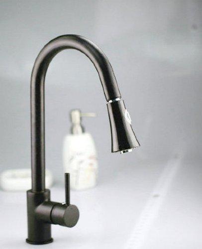 Yanksmart Single Handle Pull-out Spout Black Faucet Kitchen Sink & Bathroom Basin Mixer Tap .Black Painting Finish Ys- 4709 by Detroit Bathware - Kitchen Faucet