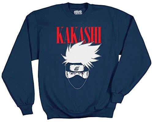 Ripple Junction Naruto  Shippuden Kakashi Logo Adult Sweatshirt Large Navy Blue