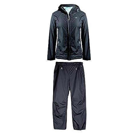 Cheetah Ladies Ripstop Ra Set with Adjustable Hood Black Size S