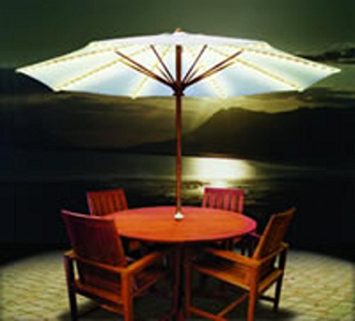 Brella Lights Outdoor Patio Lighting System for 6-Rib Umbrellas - White (Lights Brella)