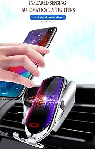 0lwmk0 Caricatore Wireless Auto Caricatore per Auto Wireless Nuovo Sensore A Infrarossi Smart Car Vent Telefono Mobile Staffa Caricabatterie Veloce