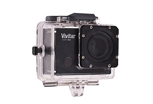 Vivitar DVR914HD 1440p HD Wi-Fi Waterproof Action Video Camera Camcorder (Black) with Remote