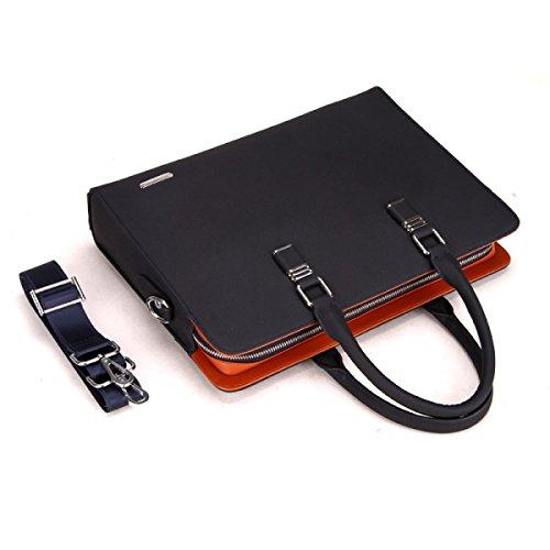 Männer Leder Business Handtasche Ultra-Faser Tasche Messenger Bag Tide Aktenkoffer Cross Section Hand Tasche Blue