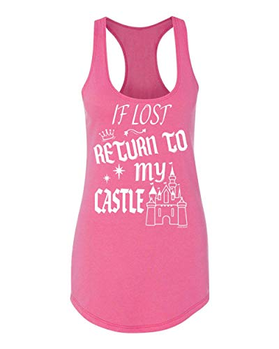 - Fresh Release - If Lost Return to My Castle T-Shirt, Tank, Long Sleeve, Hoodie & Raglan for Ladies (2X-Large, Wow Pink - Racerback Tank)