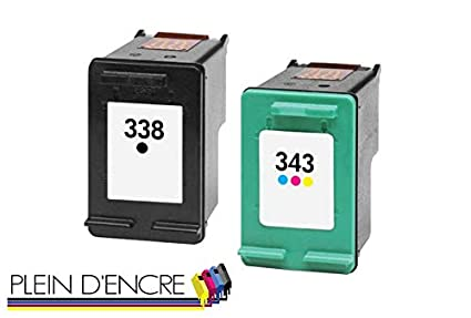 Pack 2 cartucho de tinta N ° 338 XL y N ° 343 XL gran capacidad ...