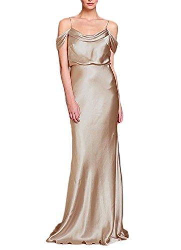 Charmeuse Stretch Halter Dress (Mr.ace Homme 2017 Stretch Charmeuse Spaghetti Straps Sheath Bridesmaid Dresses)