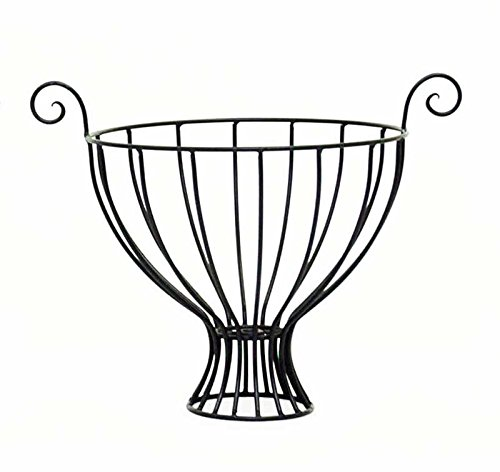 Wrought Iron Fruit Bowl, Large-15 Inches High x 14.5 Inches in Diameter. Bronze Color. Handmade.