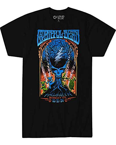 Grateful Dead Mens Vintage Style Halloween Dead 1984 T-Shirt (Medium) Black -