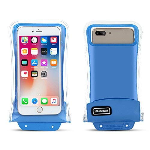 "finest selection b17bf fdf91 Floatable Phone Pouch Waterproof Phone Bag Cellphone Bag Floating Phone  Pouch Waterproof Cellphone Bag Suit for Smartphone up to 6"" (Blue)"