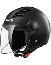 LS2 Casco Moto of562 Airflow, Matt black Long, XL