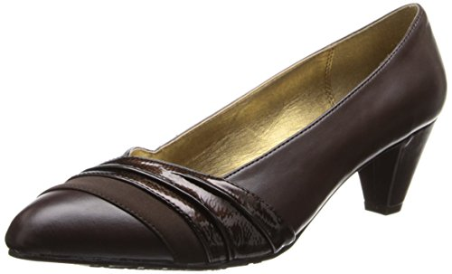 Soft Style by Hush Puppies Danette Damen Braun Leder Pumps Schuhe Neu EU 39,5