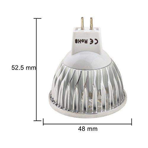 MUMENG 4W MR16 GU5.3 LED Lampen, 300LM, 12V DC, (4X MR16