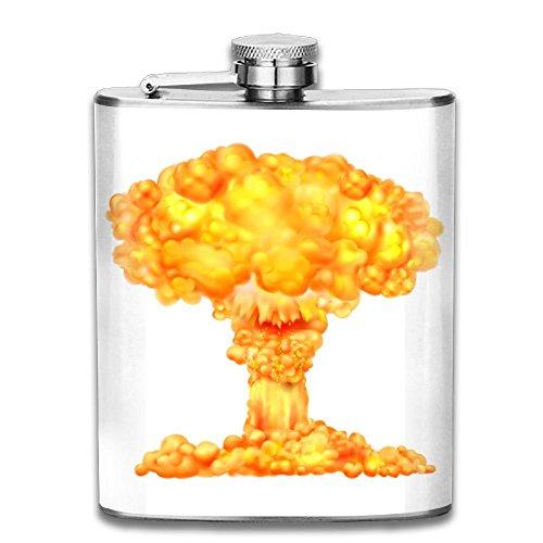 Atomic Bomb Mushroom Cloud Stainless Steel Hip Flask 7 OZ