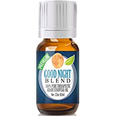 Good Night Essential Oil (Comparable to DoTerra's Serenity & Young Living's Peace & Calming Blend) 100% Pure, Best Therapeutic Grade - 10ml - Includes Chamomile, Copaiba, Lavender, Sandalwood & More