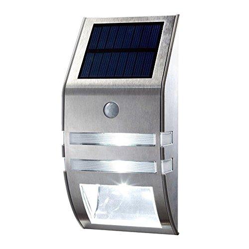 Foco solar de pared OxyLED de 40 lúmenes con sensor de movimiento