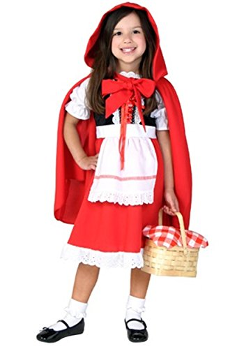 Fun Costumes Deluxe Toddler Little Red Riding Hood Costume Toddler Halloween Costume 2T -