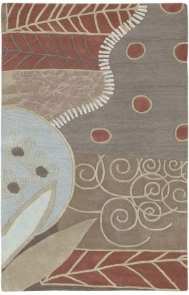 Hand Tufted Bay Leaf (Surya Artist Studio ART-62 Transitional Hand Tufted 100% New Zealand Wool Bay Leaf 18
