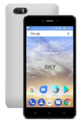 SKY Devices Platinum 5.0M Unlocked Android Cell Phone – 5.0 Inch Screen – 5MP Camera – 16 GB +1 GB Memory (Red)