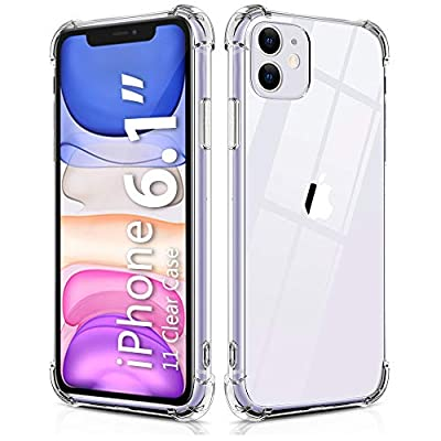 BELONGME Compatible with iPhone 11 Case 2019, Crystal Clear Case with 4 Corners Shockproof Protection Soft Scratch-Resistant TPU Cover for iPhone 11 6.1 inch.