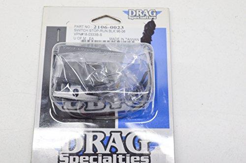 Drag Specialties 2106-0023 Black Stop & Run Switch 96-06 QTY (Drag Specialties Switch)