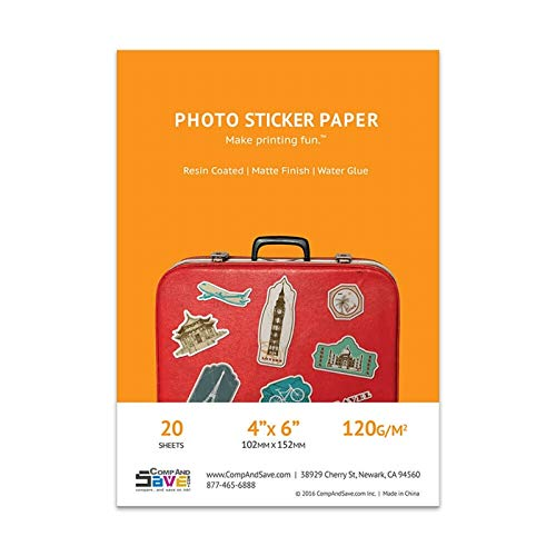 Premium Matte Inkjet Photo Sticker Paper (4