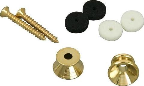 Fender Vintage Style Strap Buttons - Gold (Guitar Strap Felt)