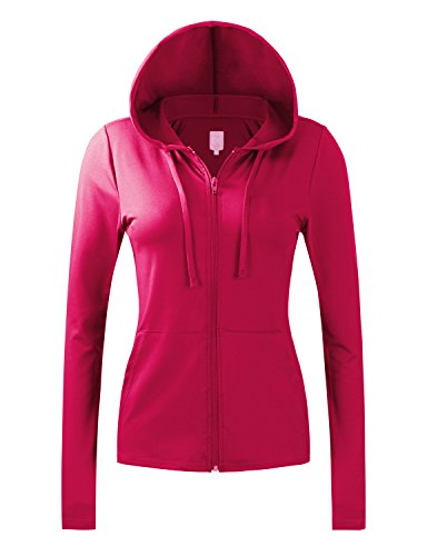 Regna X Women's Activewear Hood Lightweight Sports Jackets for Women (28 Colors, S-3X)