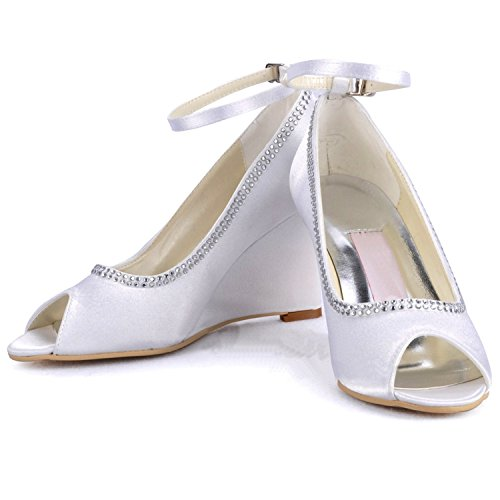 Pumps Heel MINITOO Damen Sandals 9cm white TWT5xn8z