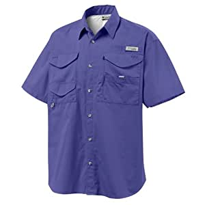 Columbia Bonehead Short Sleeve Collared Shirt - Small - Purple