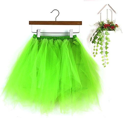 Tissu PlissE Doux Haute D'Lastique Courte Menthe LULIKA Adulte Qualit Femmes Jupe De Jupe Vert Mini Danse Gaze Tutu Robe wX57Oqy5
