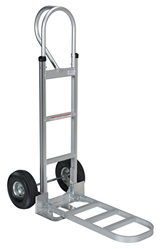 - Vestil APHT-500A Aluminum Hand Truck with P Handle, Pneumatic Wheels, 300 lbs Load Capacity, 50-1/2